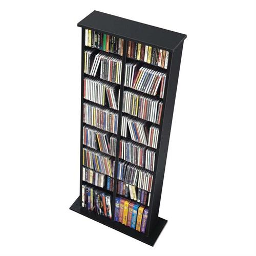 View a large image of the Prepac Double Multimedia Storage Tower (Black) BMA-0320 here.