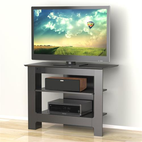 View a larger image of the Nexera Alpine Series 42 TV Stand Console in Textured Black Lacquer Finish 100206 here.