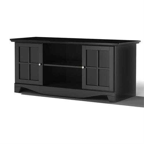 View a larger image of Nexera Pinnacle TV Stand (56-inch, Black) 101206 here.