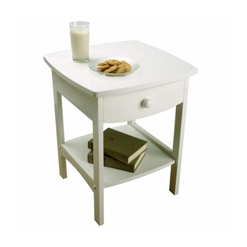 View a large image of the Winsome Wood Open Shelf Night Stand White 10218 here.