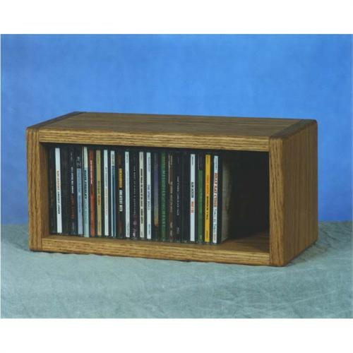 View a large image of the Wood Shed Solid Oak Wall Mount CD Rack 103-1 here.