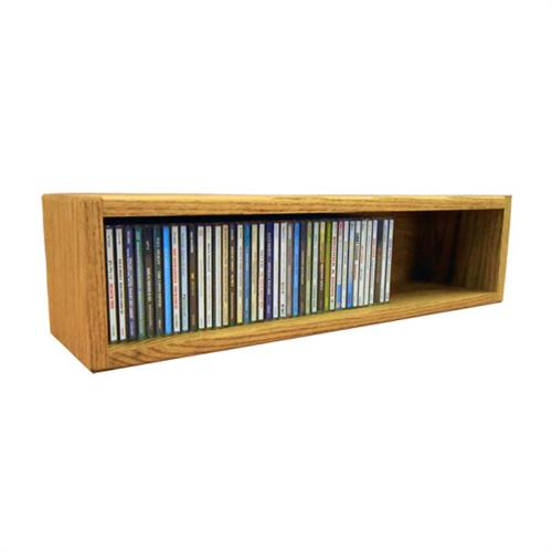 View a large image of the Wood Shed Solid Oak CD Storage Rack 62 CD Capacity 103-2 here.