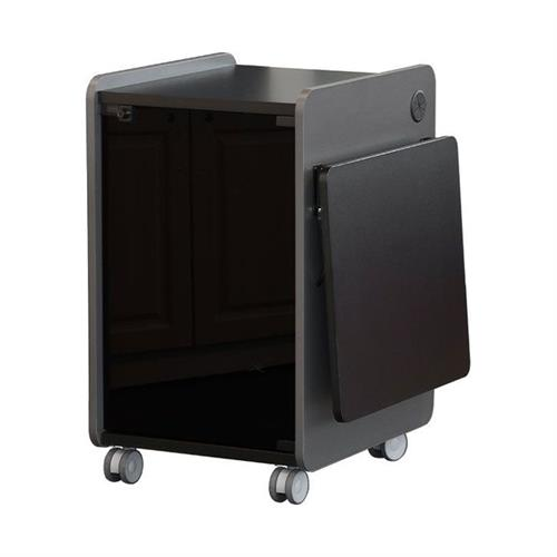 View a large image of the Audio Visual Furniture - VFI Mobile Multimedia Stand Black 103420 here.