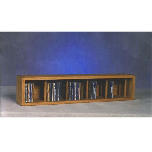 View a large image of the Wood Shed Solid Oak Wall Mount CD Racks TWS-103D-3 here.