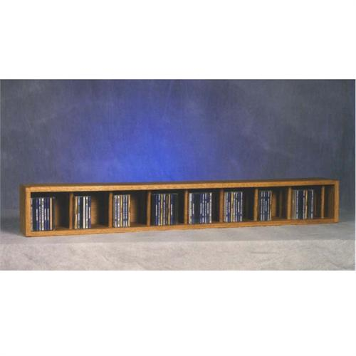 View a large image of the Wood Shed Solid Oak Wall Mount CD Racks TWS-103D-4 here.