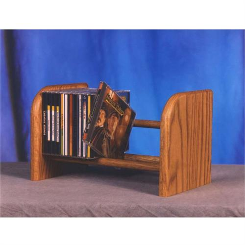 View a large image of the Wood Shed Solid Oak CD Storage Rack TWS-104 here.