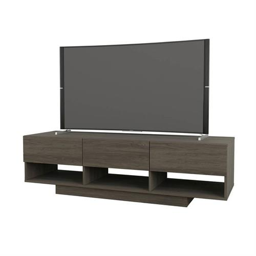 View a larger image of Nexera Rustik TV Stand (60-inch, 3 Drawers, Bark Grey) 105144 here.