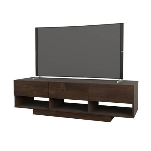 View a larger image of Nexera Stereo Series TV Stand (60-inch, Truffle) 105161 here.
