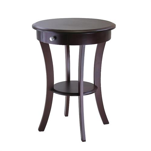 View a large image of the Winsome Sasha Accent Table with Drawer Cappuccino 40627 here.