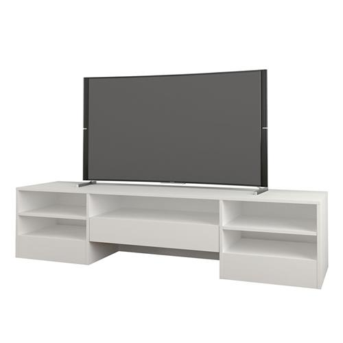 View a larger image of Nexera Rustik TV Stand (72-inch, 1 Drawer, White) 109003 here.