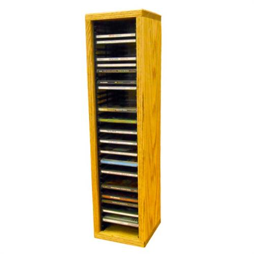 View a large image of the Wood Shed Solid Oak CD Rack 40 CD Capacity TWS-109-2 here.