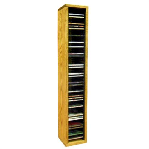View a large image of the Wood Shed Solid Oak CD Rack 60 CD Capacity TWS-109-3 here.