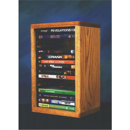 View a large image of the Wood Shed Solid Oak DVD VHS Rack Various Finishes 110-1 here.