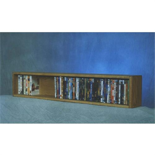 View a larger image of the Wood Shed Solid Oak DVD VHS CD Wall Mountable Media Storage Rack (Various Finishes) 110-4W.