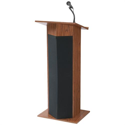 View a larger image of the Oklahoma Sound Power Plus Lectern (Medium Oak) 111PLS-MO.