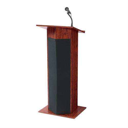 View a large image of the Oklahoma Sound Power Plus Lectern Mahogany 111PLS-MY here.