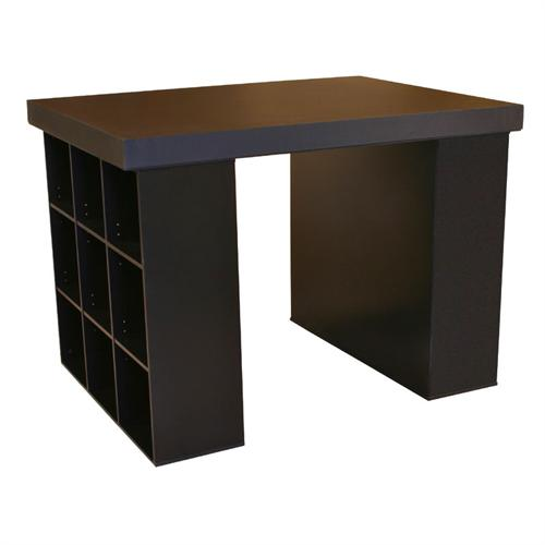 View a larger image of the Venture Horizon Project Center Table with Bookcase Sides (Black) 1148-21BL.