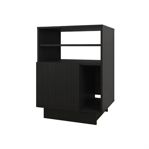 View a larger image of Nexera Galleri Audio Tower (1-Door, Black) 115206 here.