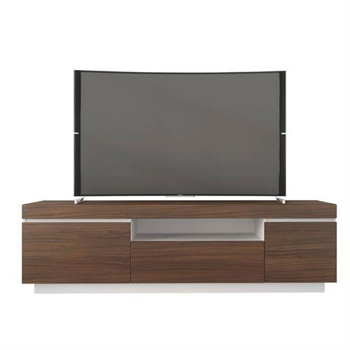 View a larger image of Nexera Cali TV Stand (68-inch, Walnut and White) 116140 here.