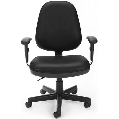 View a larger image of the OFM Vinyl Posture Task Chair With Adjustable Arms (Black) 119-VAM-AA-606 here.