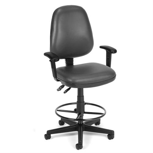View a larger image of the OFM Vinyl Posture Task Chair with Adjustable Arms & Drafting Kit (Charcoal) 119-VAM-AADK-64 here.