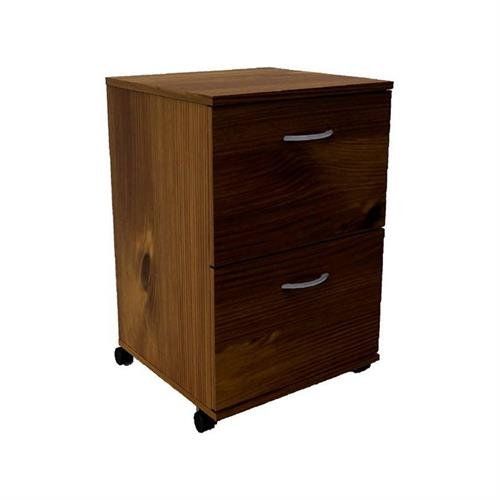 View a larger image of Nexera Essentials Mobile Filing Cabinet (2-Drawer, Truffle) 12093 here.