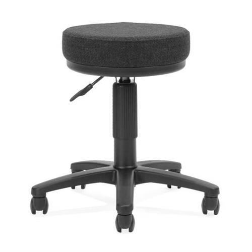 View a large image of the OFM UtiliStool Fabric Computer Stool Black 902-135 here.