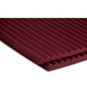 View a large image of the Auralex Acoustics 1 inch Wedge StudioFoam Sound Absorption Panels Burgundy 20 pack 1SF24BUR here.