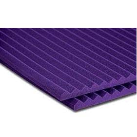 View a large image of the Auralex Acoustics 1 inch Wedge StudioFoam Sound Absorption Panels Purple 20 pack 1SF24PUR here.