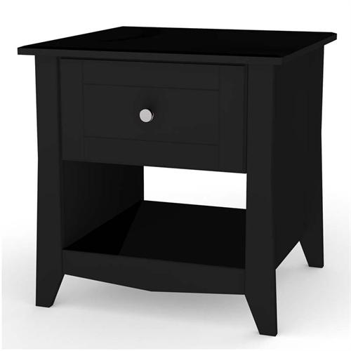 View a large image of the Nexera Tuxedo Collection End Table Black 200806 here.