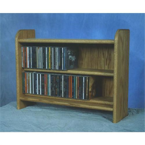 View a large image of the Wood Shed Solid Oak Cabinet CD Rack TWS-202 here.