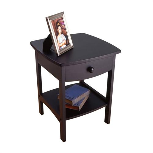 View a large image of the Winsome Wood Open Shelf Night Stand Black 20218 here.