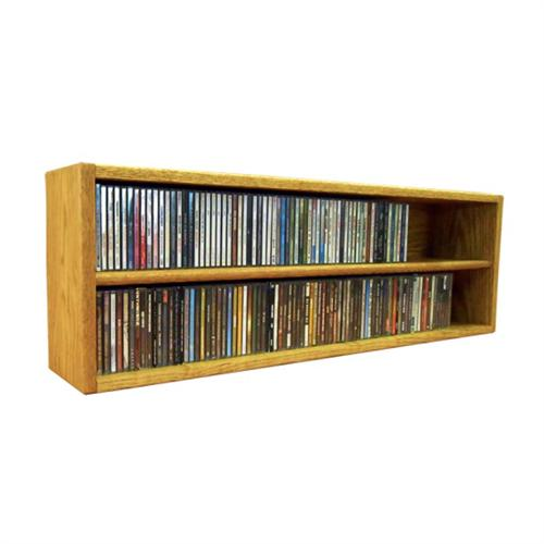 View a large image of the Wood Shed Solid Oak CD Storage Rack 188 CD Capacity TWS-203-3 here.