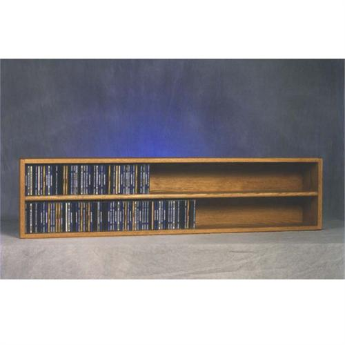 View a large image of the Wood Shed Solid Oak Wall Mount CD Racks TWS-203-4 here.