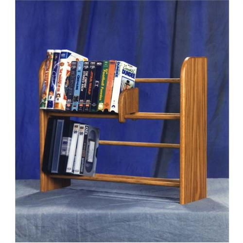 View a large image of the Wood Shed Solid Oak DVD VHS Rack TWS-205 here.