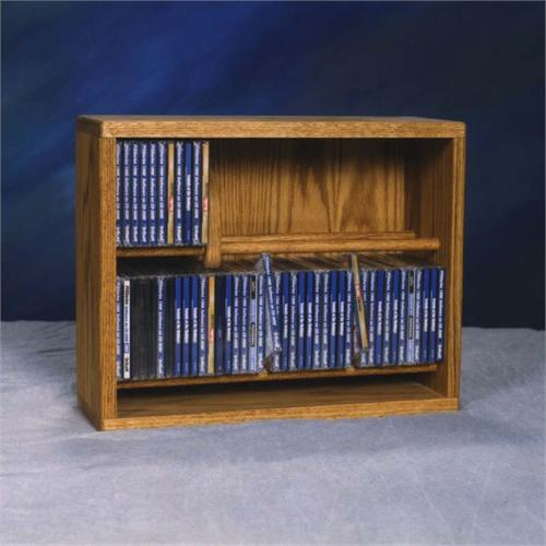 View a large image of the Wood Shed Solid Oak CD Storage Rack TWS-206-18 here.