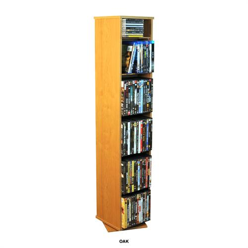 View a large image of the Venture Horizon 280 CD 160 DVD Revolving Media Tower Oak 2080-33OA here.