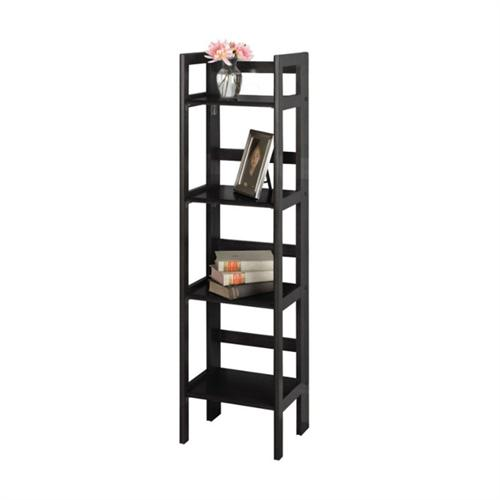View a large image of the Winsome Wood 4 Tier Folding Shelf Black 20852 here.