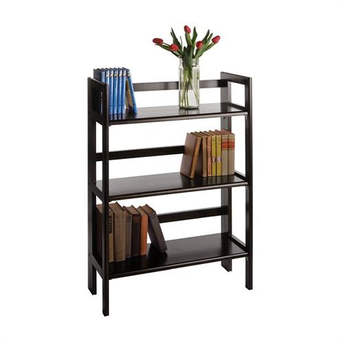 View a large image of the Winsome Wood 3 Tier Folding Shelf Black 20896 here.