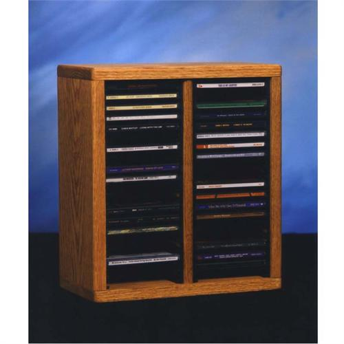 View a large image of the Wood Shed Solid Oak CD Rack TWS-209-1 here.
