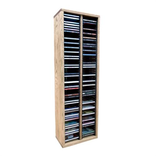 View a large image of the Wood Shed Solid Oak CD Rack 120 CD Capacity TWS-209-3 here.