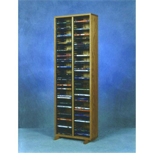 View a large image of the Wood Shed Solid Oak DVD Storage Rack Various Finishes 210-4DVD here.