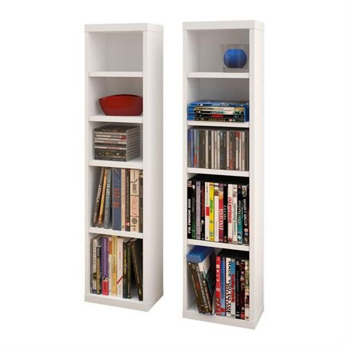 View a larger image of Nexera Liber-T CD DVD Towers (Set of 2, White) 211003 here.