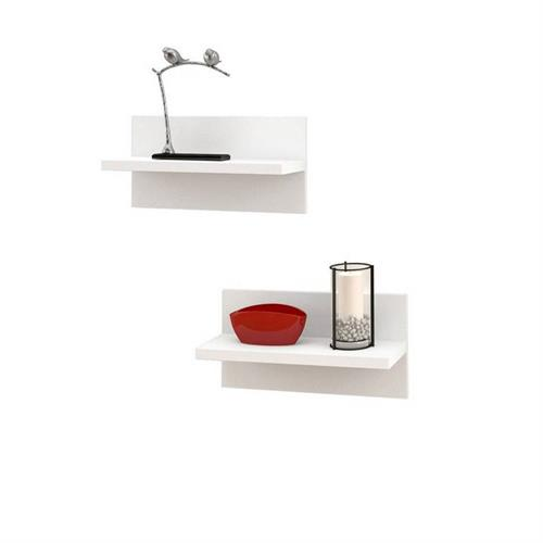 View a larger image of Nexera Liber-T Floating Wall Shelves (Set of 2, White) 211103 here.
