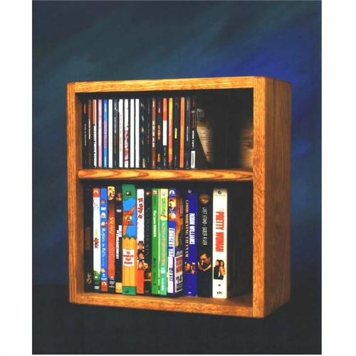 View a large image of the Wood Shed Solid Oak CD DVD VHS Rack Various Finishes 211-1W here.
