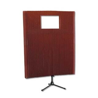 View a large image of the Auralex Acoustics MAX-Wall Portable Sound Wall Kit with Window Burgundy MAX211BUR here.