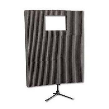 View a large image of the Auralex Acoustics MAX-Wall Portable Sound Wall Kit with Window Charcoal MAX211CHA here.