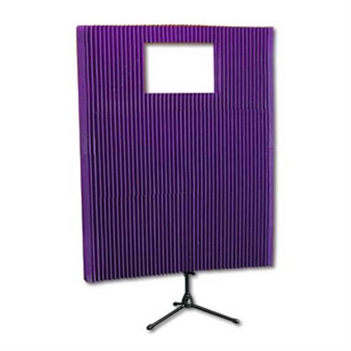 View a large image of the Auralex Acoustics MAX-Wall Portable Sound Wall Kit with Window Purple MAX211PUR here.