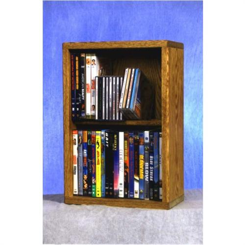 View a large image of the Wood Shed Solid Oak Combination CD and DVD Rack TWS-215-12COMBO here.
