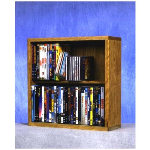 View a large image of the Wood Shed Solid Oak Combination CD and DVD Rack TWS-215-18COMBO here.
